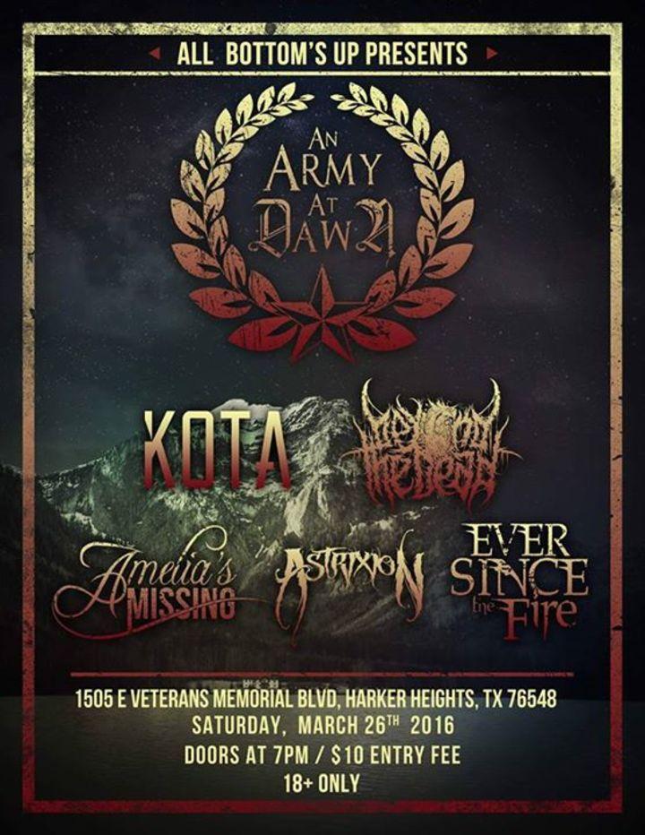 An Army At Dawn Tour Dates
