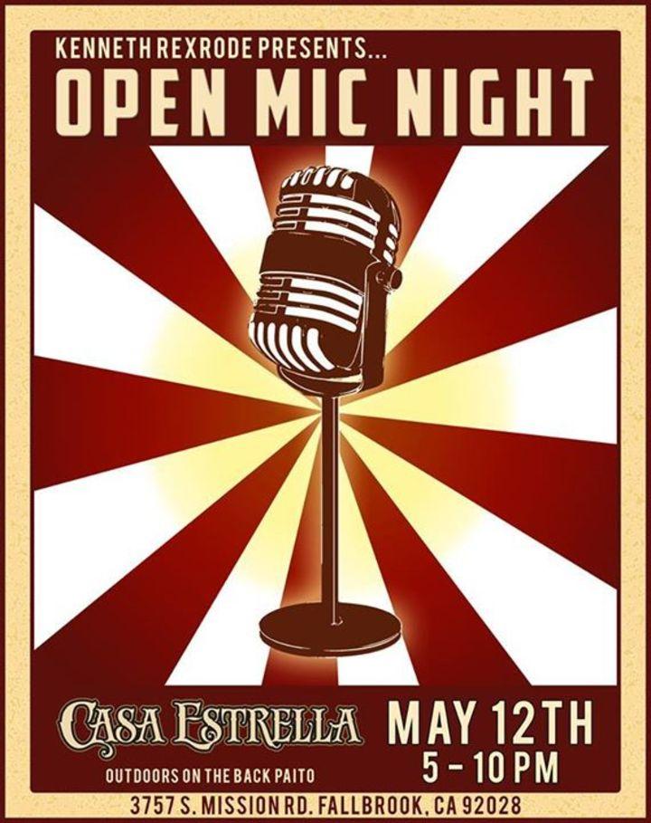 Open Mic Night in Fallbrook Tour Dates