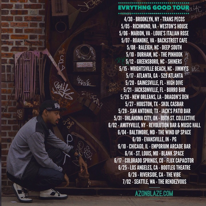 Azon Blaze Tour Dates