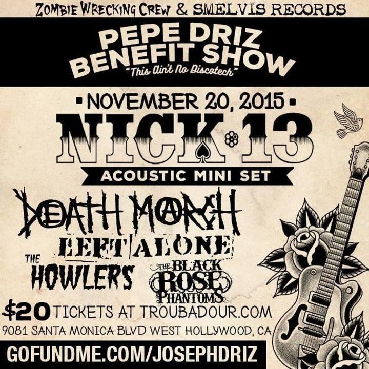 Nick 13 Tour Dates