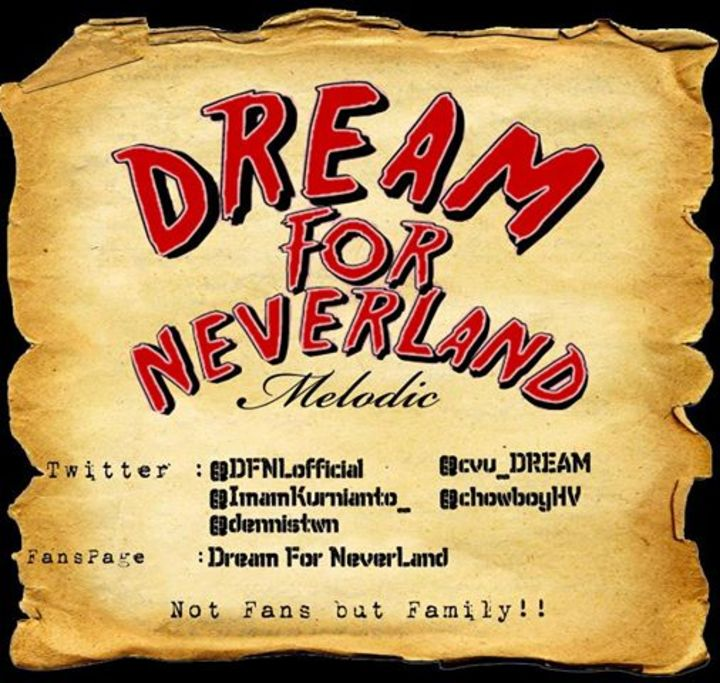 Dream For NeverLand Tour Dates