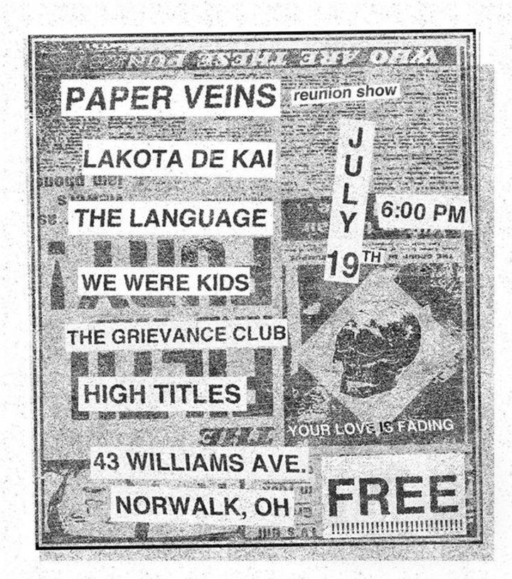 Paper Veins Tour Dates