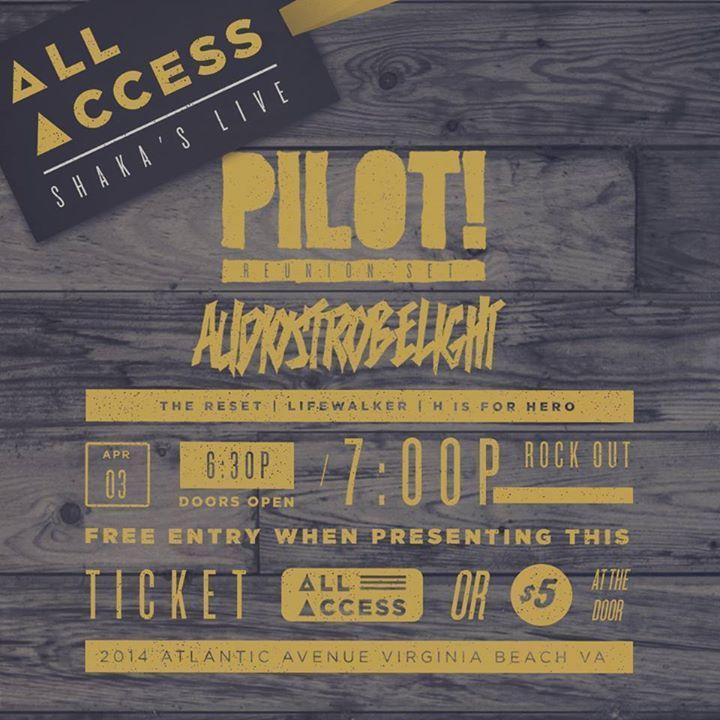 Pilot! Tour Dates