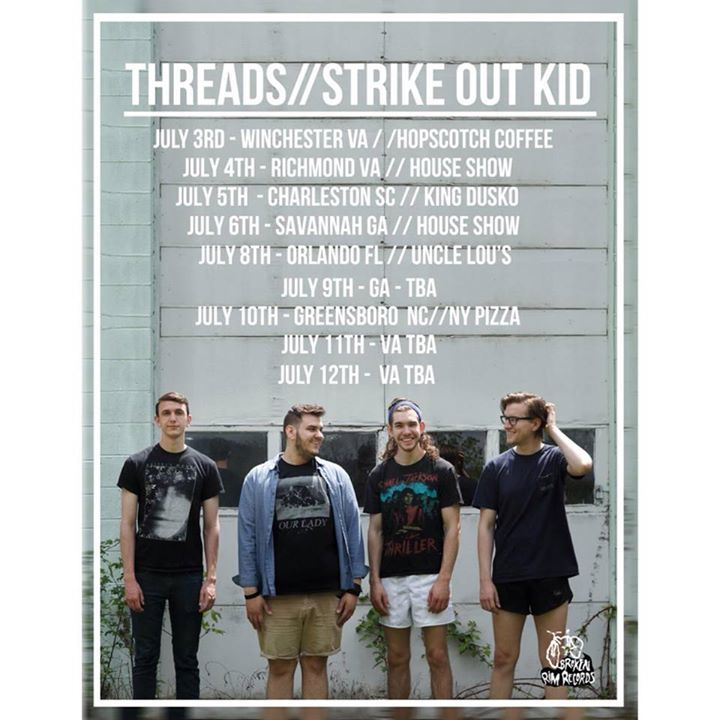 Strike Out Kid Tour Dates