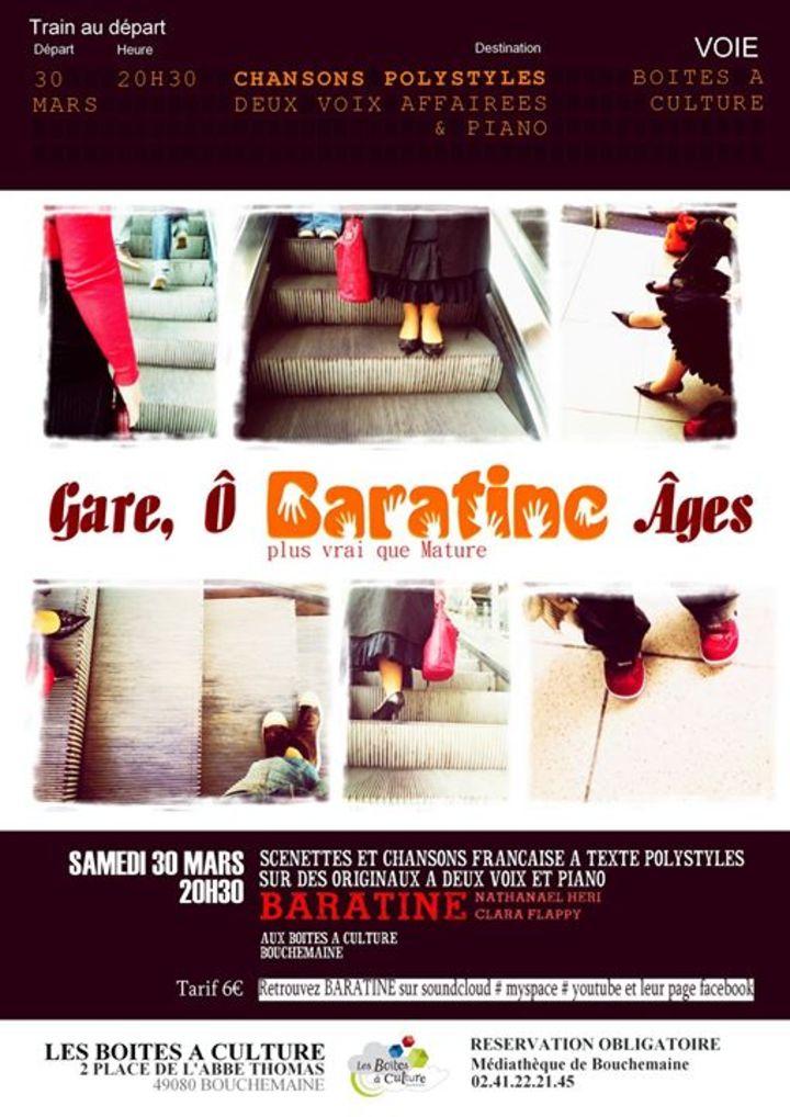 Baratine Acoustik (plus vrai que Mature) Tour Dates