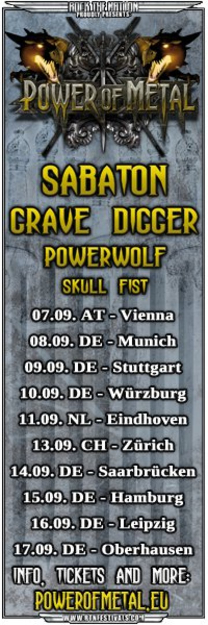 POWER OF METAL Tour Dates