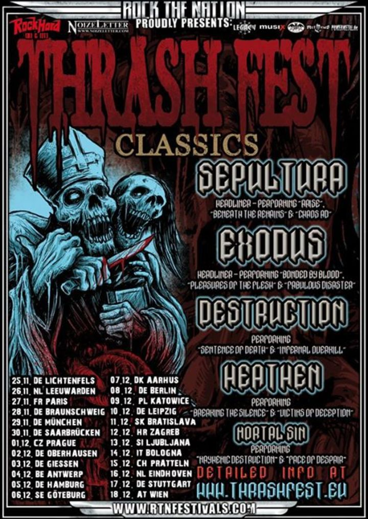 Thrashfest Tour Dates