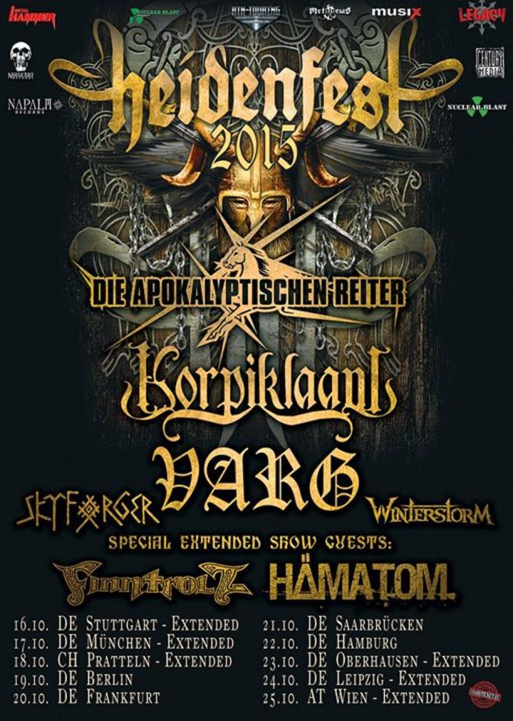 Heidenfest Tour Dates