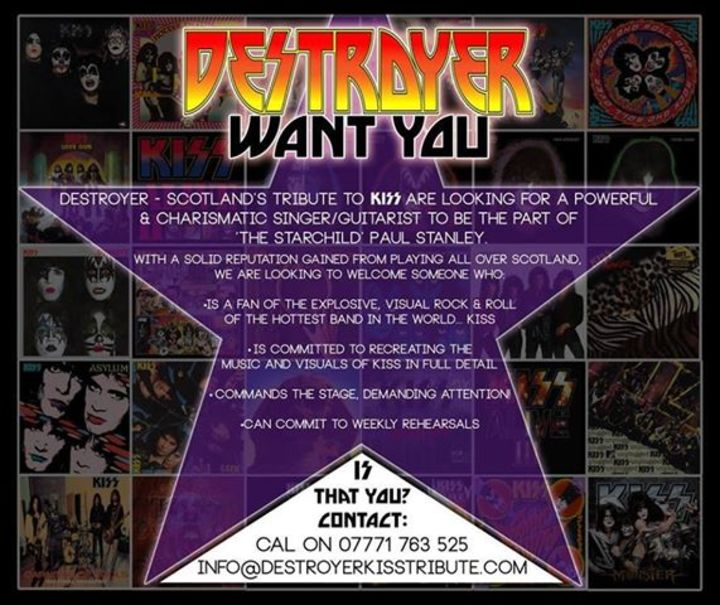 Destroyer: Scotland's Hottest Tribute to KISS Tour Dates