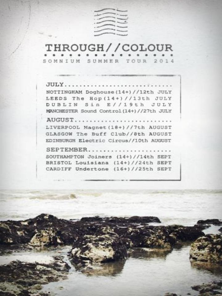 Through Colour Tour Dates