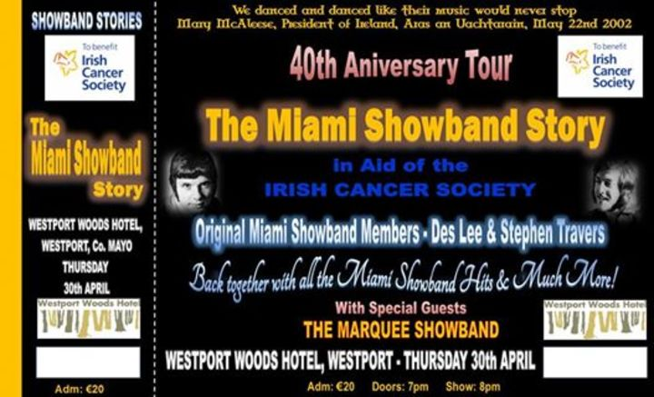 The Miami Showband Story Tour Dates