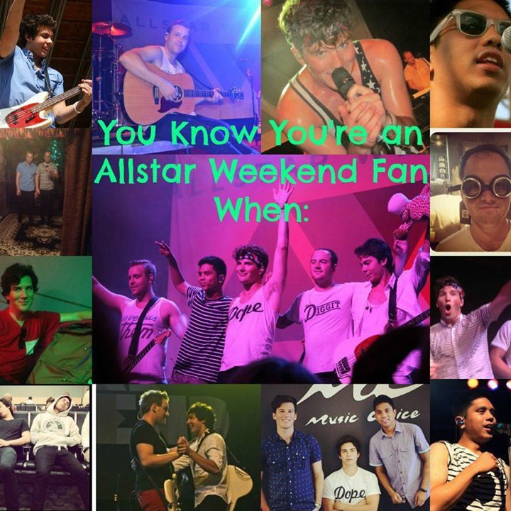 You Know You're an Allstar Weekend Fan When: Tour Dates