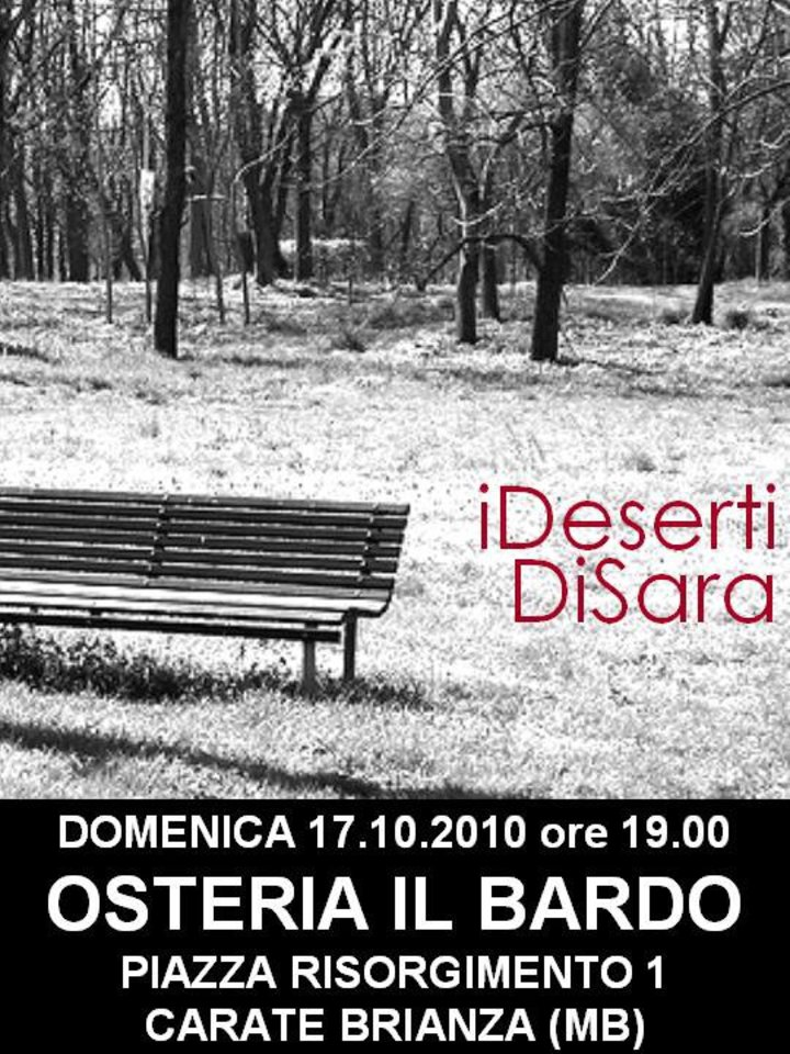 iDesertiDiSara Tour Dates