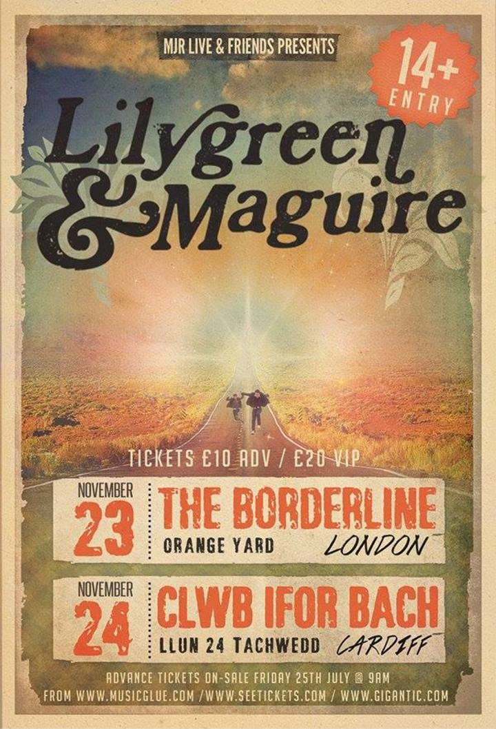 Lilygreen and Maguire Tour Dates