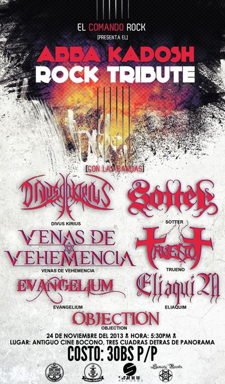 VENAS DE VEHEMENCIA Tour Dates