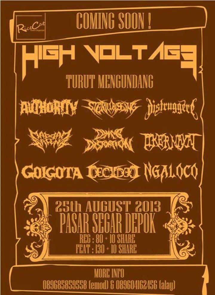 Golgota Tour Dates