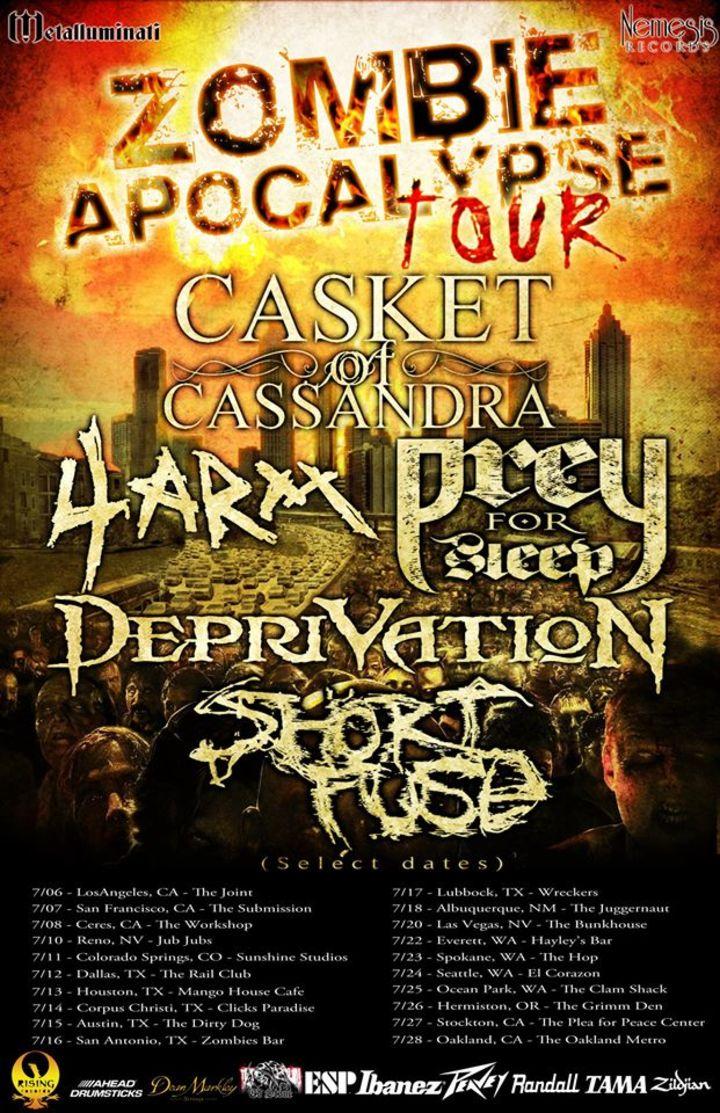 The Zombie Apocalypse Tour Tour Dates