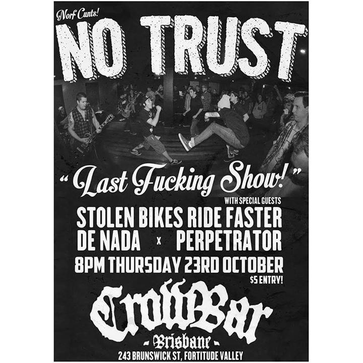 No Trust Tour Dates