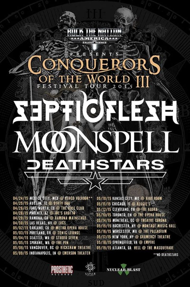 Conquerors of the World Tour Tour Dates