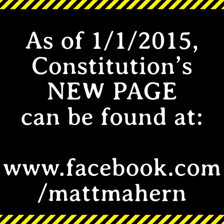 Constitution Tour Dates