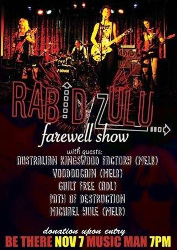 Rabid Zulu Tour Dates