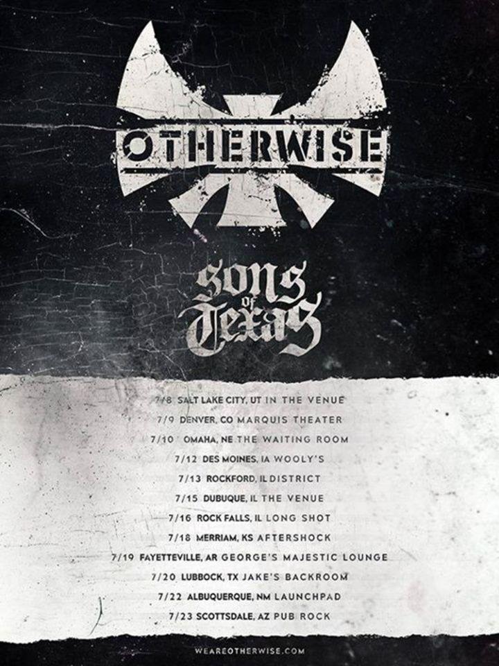 Otherwise - Texas Fan Base Tour Dates