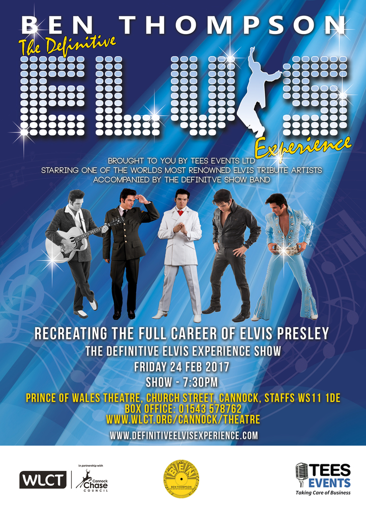 The Definitive Elvis Experience @ Prince Of Wales Theatre - Cannock, United Kingdom