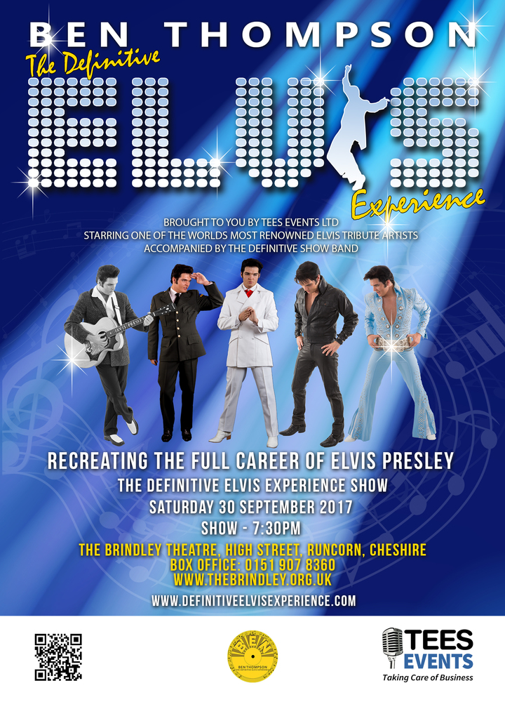The Definitive Elvis Experience @ The Brindley Theatre - Runcorn, United Kingdom