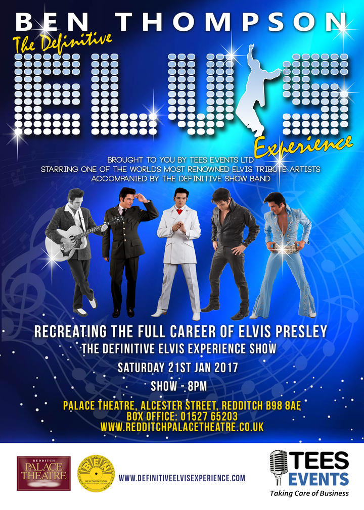 Ben Thompson  Elvis Tribute Artist @ The Palace Theatre - Redditch, United Kingdom
