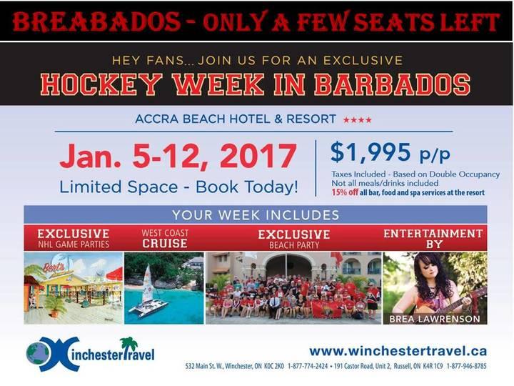 Brea Lawrenson @ Accra Beach Hotel - Bridgetown, Barbados