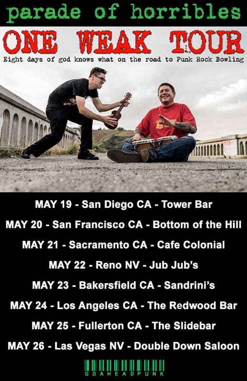 Parade of Horribles Tour Dates