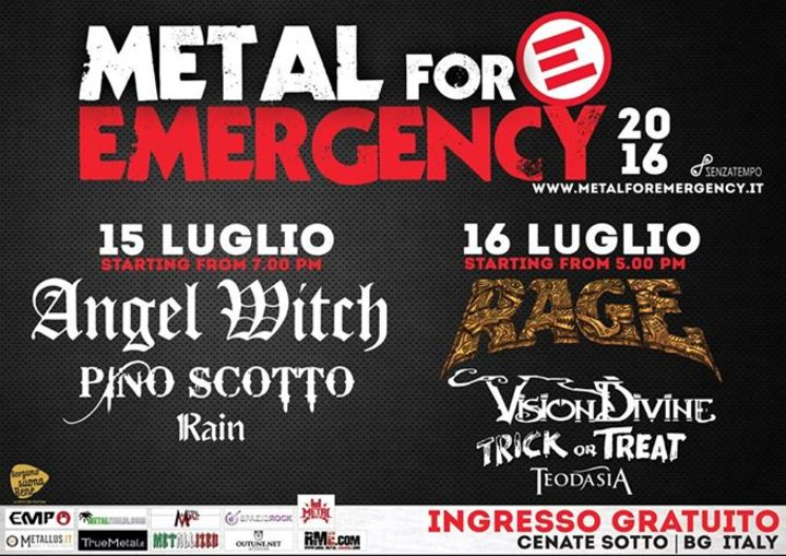 Metal for Emergency Festival Tour Dates