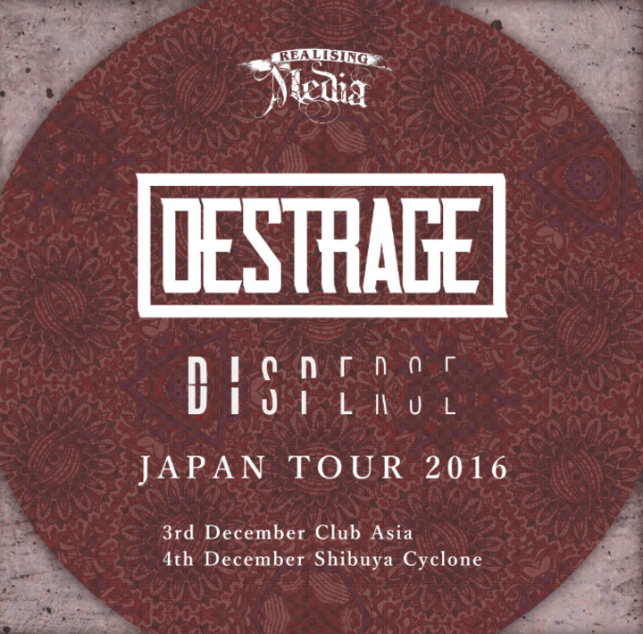 Destrage @ club asia - Maruyamacho, Japan