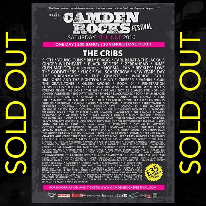 Camden Rocks Festival Tour Dates