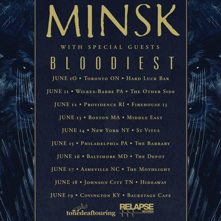 Bloodiest Tour Dates