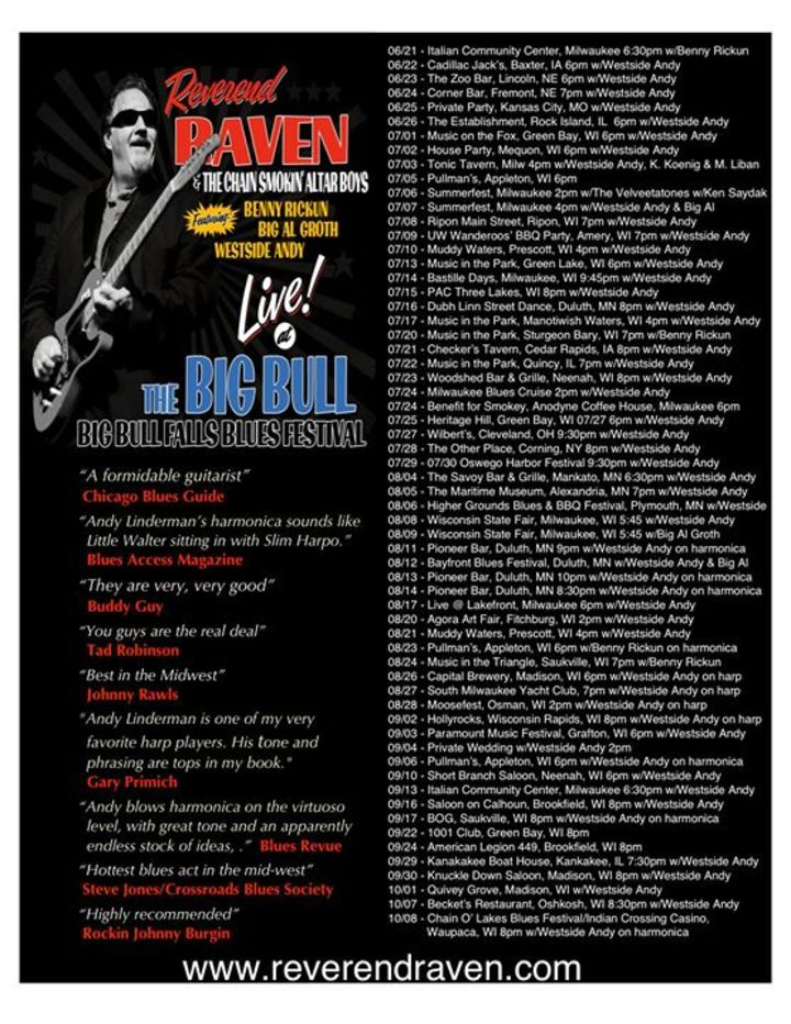 Reverend Raven & The Chain Smokin Altar Boys Tour Dates