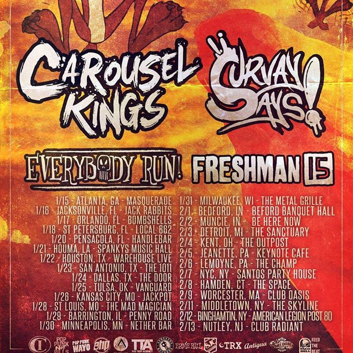 Freshman 15 Tour Dates