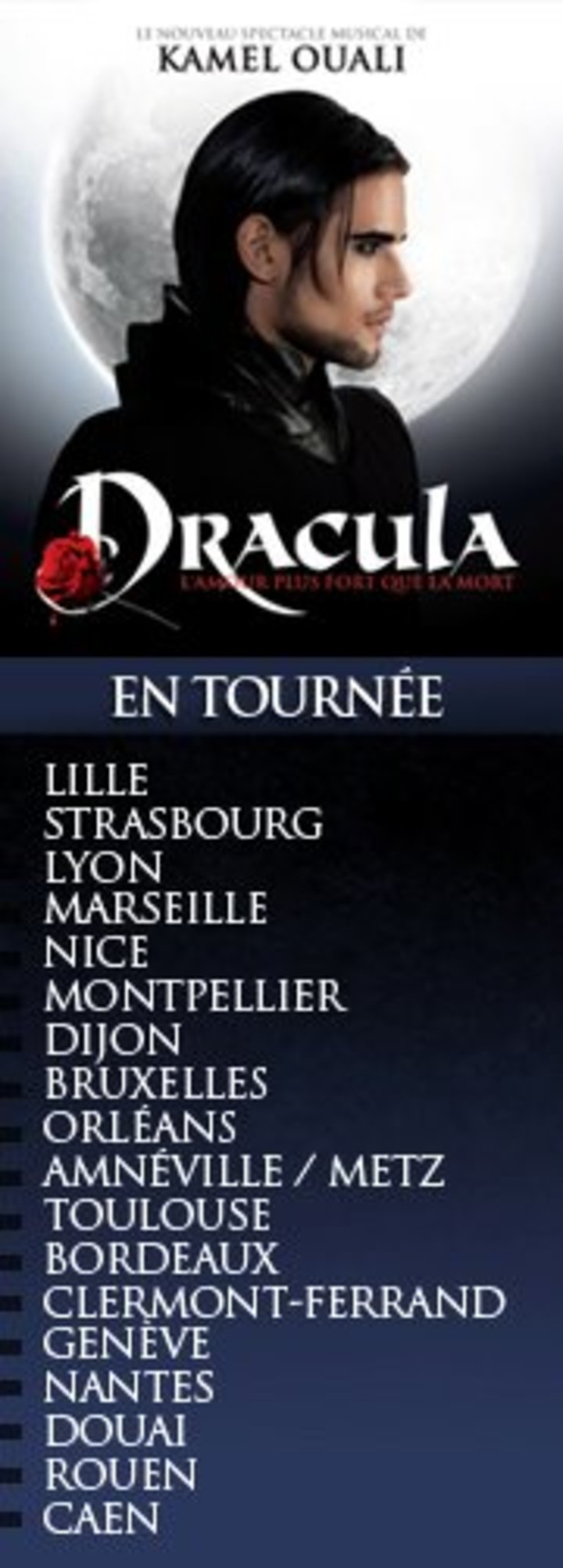 Dracula - L'amour plus fort que la mort Tour Dates