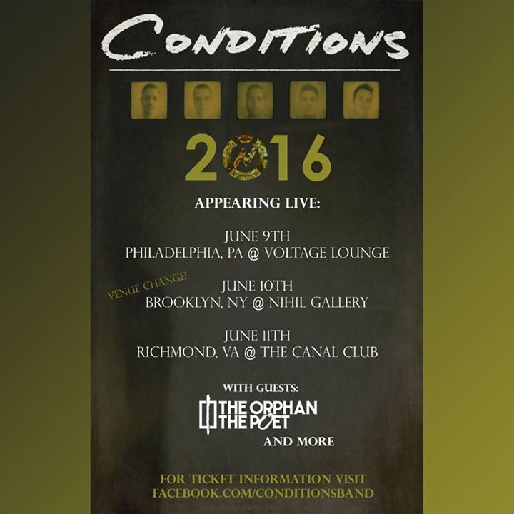 Conditions Tour Dates