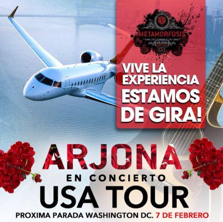 Arjona Metamorfosis US Tour Tour Dates