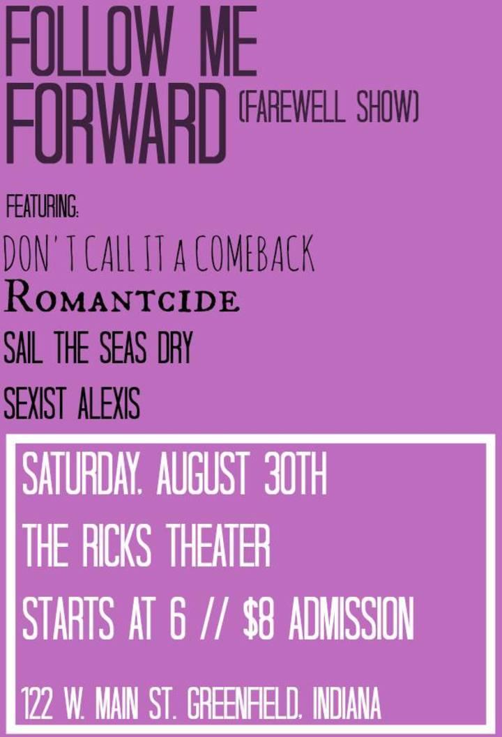 Follow Me Forward Tour Dates