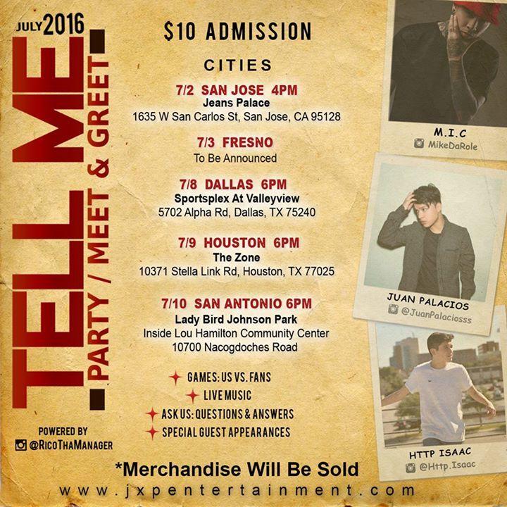 Juan Palacios Tour Dates