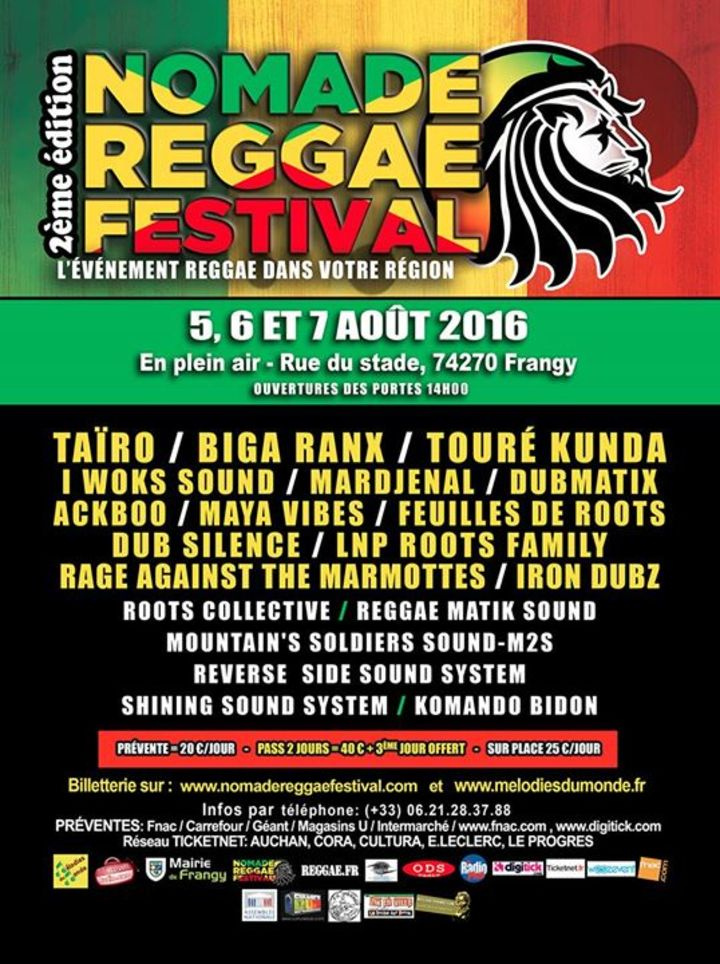 Festival Reggae de Bergerac officiel Tour Dates