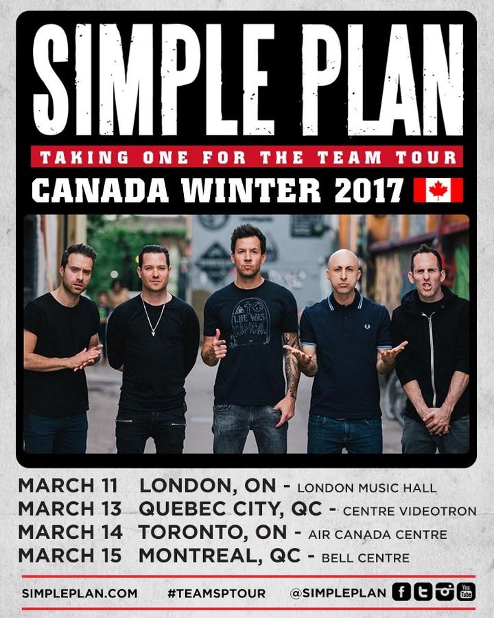 Simple Plan @ Centre Videotron - Québec, Canada