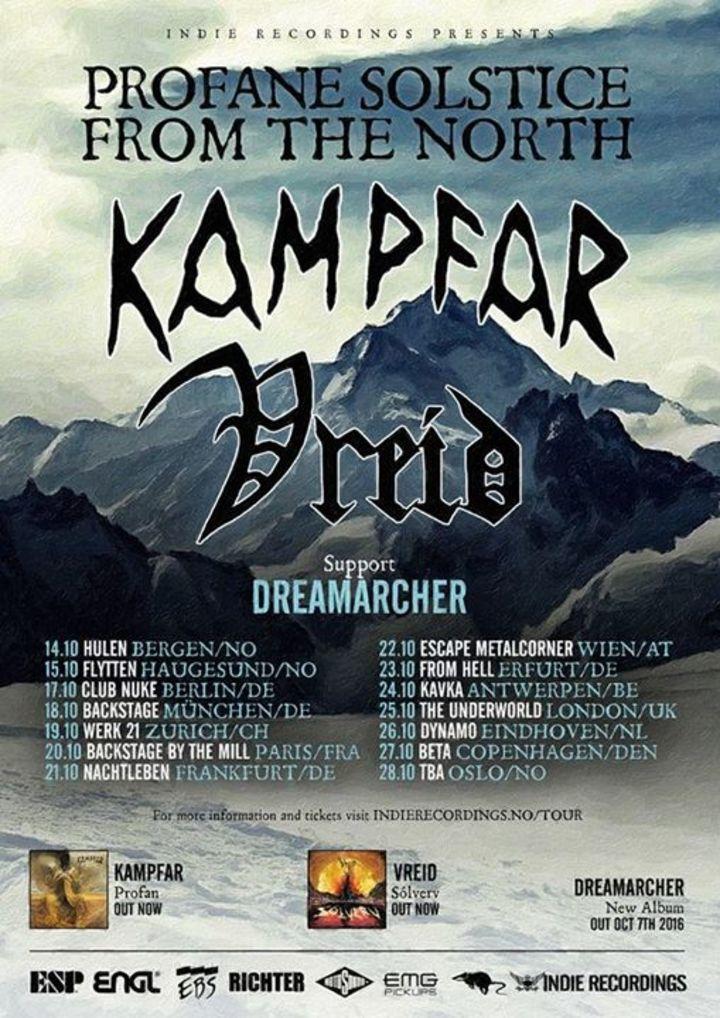 VREID  (OFFICIAL) Tour Dates