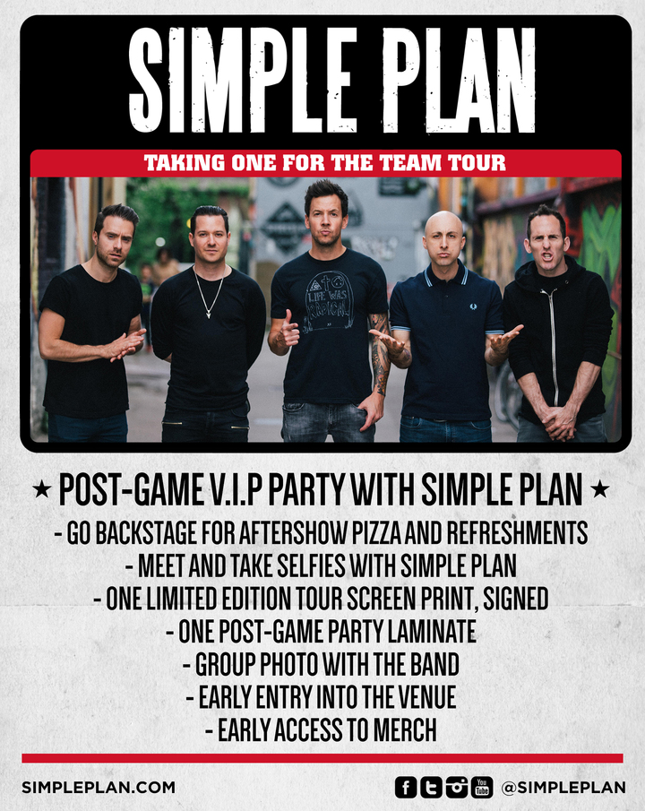 Simple Plan @ Air Canada Centre - Toronto, Canada