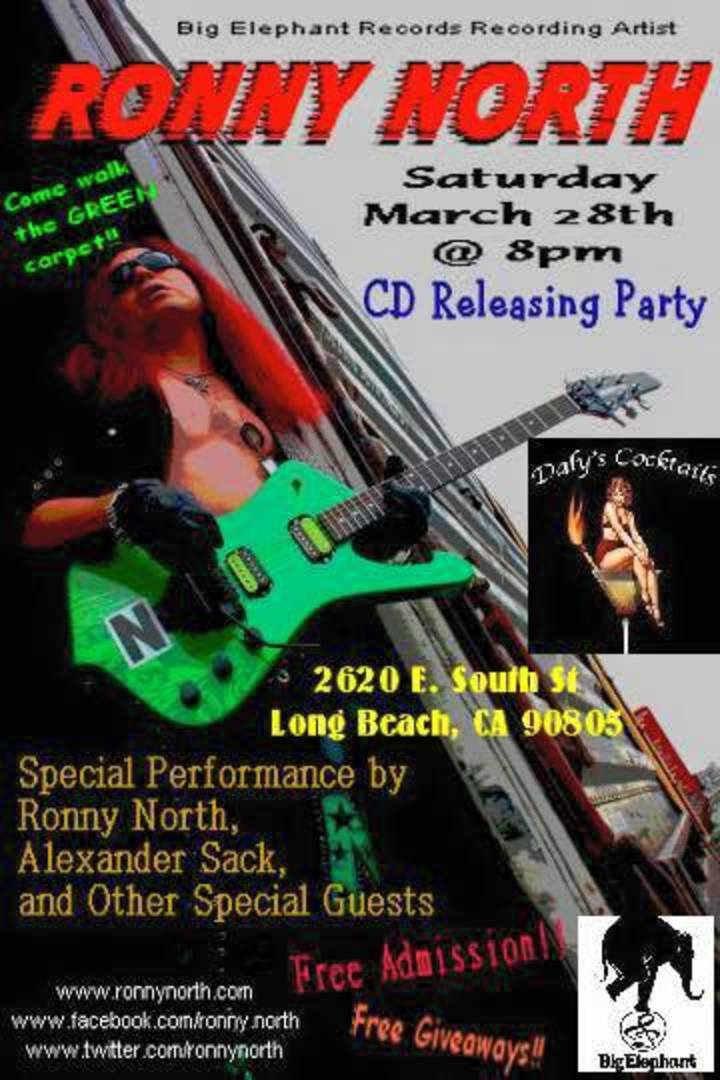 Ronny North CD Release Party Tour Dates