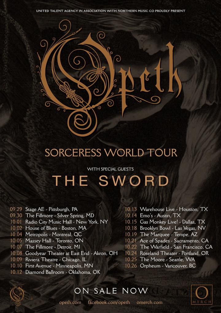 Bandsintown | Opeth Tickets - Warfield, Oct 22, 2016