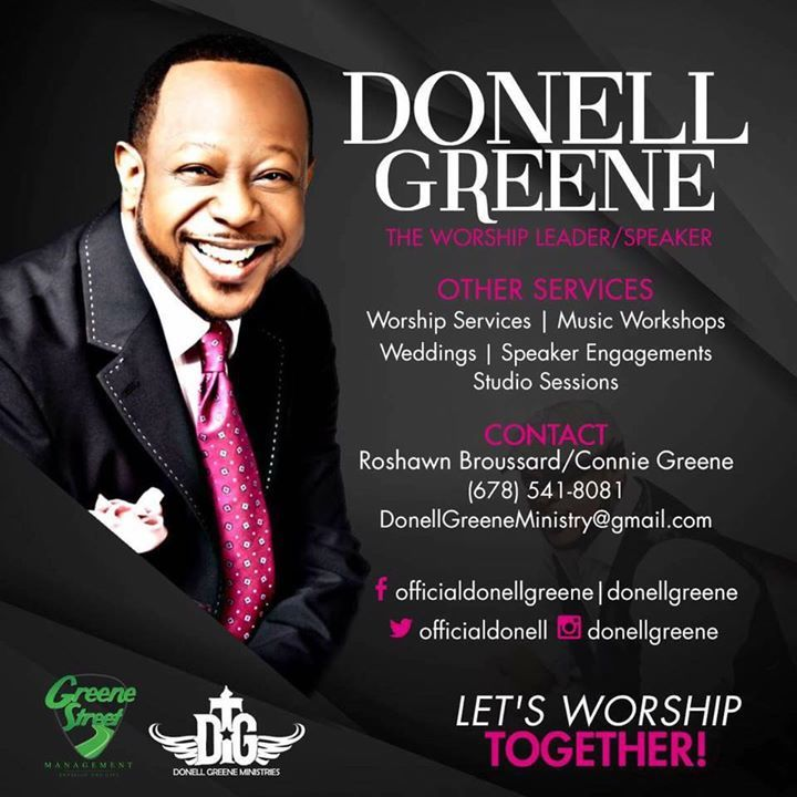Official Donell Greene Tour Dates