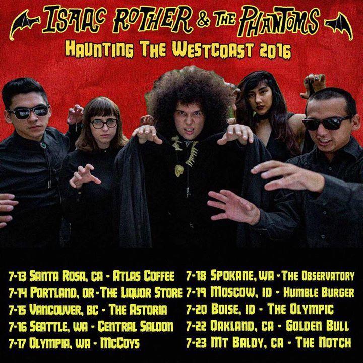 Isaac Rother & The Phantoms Tour Dates